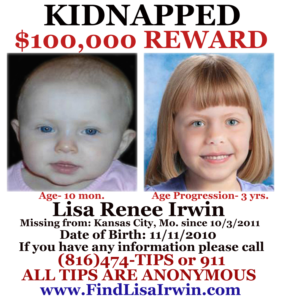 Lisa Irwin Missing Poster